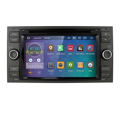hizpo Android 10 Octa Core Radio Doble DIN Estéreo Headunit para Ford Focus Mondeo S-MAX C-MAX Galaxy Support GPS Navigation Screen Mirror 4G WiFi OBD2 Dab + SWC DVD Radio (Negro)