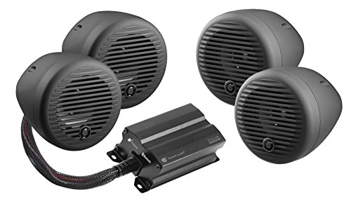 Planet Audio Bluetooth, Weatherproof Speaker And Amplifier Sound System, Motorcycles ATV