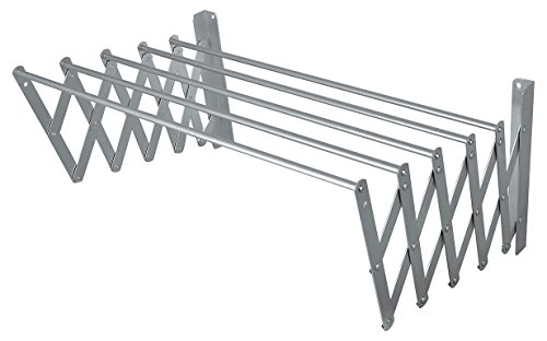 BriTools Tendedero Extensible Pared, Aluminio, 120 cm