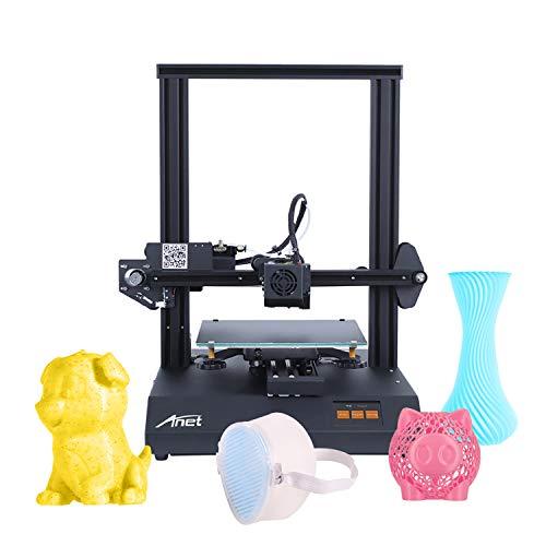 Leepus Anet ET4 Pro Upgrade Imprimante 3D haute précision Ultra silencieux Carte mère TMC2208 Pilote Taille d'impression 220*220*250 mm avec écran tactile couleur 2,8 pouces Heatbed 8 Go Carte TF PLA