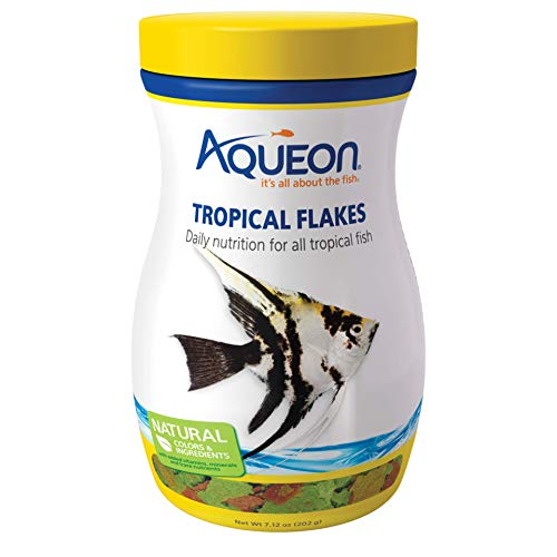Aqueon Tropical Flakes Fish Food, 7.12-Ounce