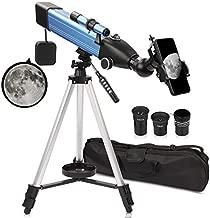 QUNSE Telescope for Kids Beginners 167X Astronomical Refractor Telescope 500x60mm with Smartphone Adapter/Handbag (A)