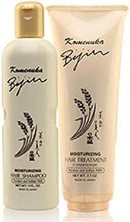 Komenuka Bijin Moisturizing Hair Shampoo and Hair Treatment / Conditioner, No PARABENS and SULFATES