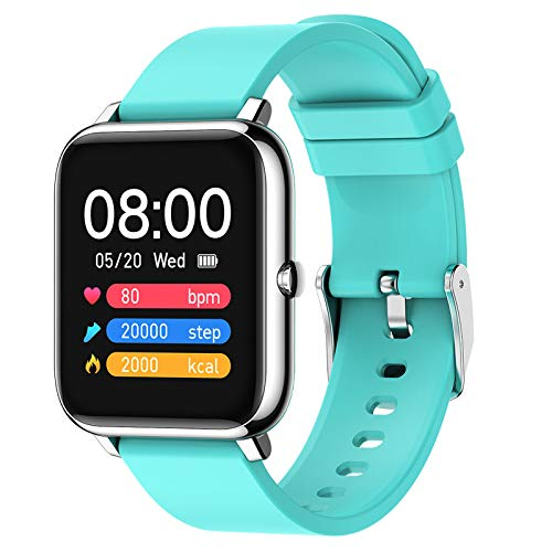 LK-HOME Smartwatch, 1,4-Zoll-Touchscreen-Uhr, 24-Stunden-herzfrequenz- Und Blutdruckmessgerät, Wasserdichter Ip67-fitness-tracker, Schrittzähler, Informations-Push-Funktion,Blau