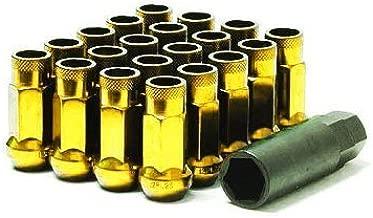 Muteki SR48 Open End Lug Nuts - Yellow Chrome 12x1.25 48mm 32905Z