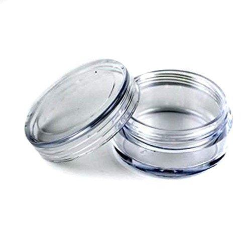 Aeromdale Lot de 100 contenants en plastique transparent pour échantillons de produits cosmétiques – 5 g
