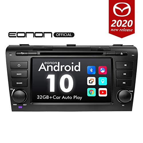 2020 Newest Car Stereo Android10 Double Din Car Stereo Android Radio, Eonon Head Unit Car GPS Navigation Applicable to Mazda 3 2004-2009 Support Carplay/Android Auto//Fast Boot-7 Inch-GA9451