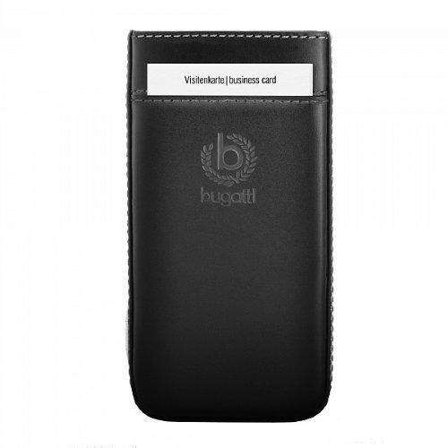 bugatti Genuine Schwarz Pure Premium Leder Case Folie In Hülle Sleeve Tasche Retail Verpackung mit Kartensteckplatz & einfach Release-Technik geeignet für Amazon Fire Phone