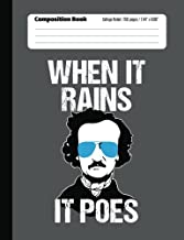 When It Rains It Poes Composition Notebook: College Ruled Lined - 150 pg (7.44 x 9.69)