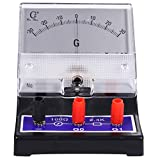 ULTECHNOVO Class Ammeter Pointed Type Sensitive Amperemeter Rectangular Shape Analog Ampere Current Testing Meter Physics Microammeter
