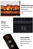 ANYWN Ewige Flamme Elektrokaminen Heizung, Elektro-Kamineinsatz Log-Quarz-Realistic Glutbett Heizlüfter mit Infrarot-Fernbedienung schwarz - 3