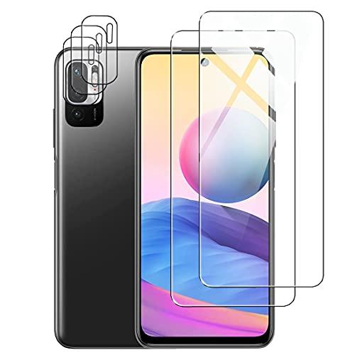 Protector de Pantalla para Xiaomi POCO M3 Pro 5G/Redmi Note 10 5G Cristal Templado Protector de Lente de Cámara, [Cobertura máxima][Sin Burbujas] HD Cristal Vidrio Templado