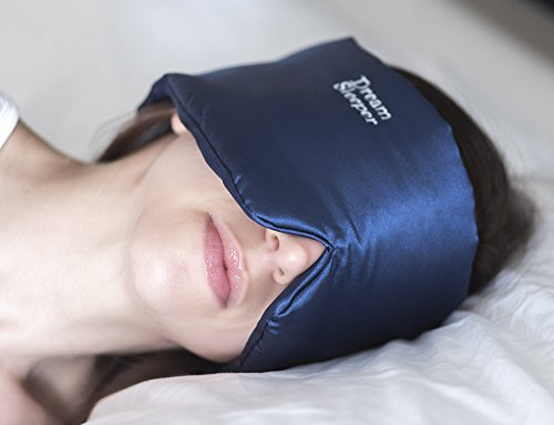 Sleep mask eye cover for sleeping | women | men. Large Easy Grip Straps | Best Silky blindfold for...