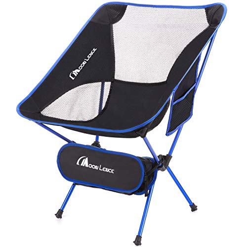 MOON LENCE Outdoor Ultralight Portable Folding Chairs with Carry Bag Heavy Duty 242lbs Capacity...