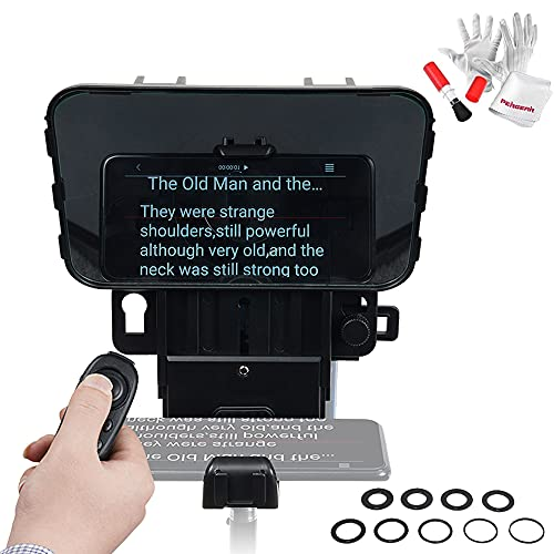 Desview T3 Teleprompter Desview T2 Broadcast Teleprompter 2021 New Model for Phone Tablet DSLR Cameras, More Flexible Phone Tablet Holder, Support Wide Angle Lens, Simple Smaller Portable Easy to Use