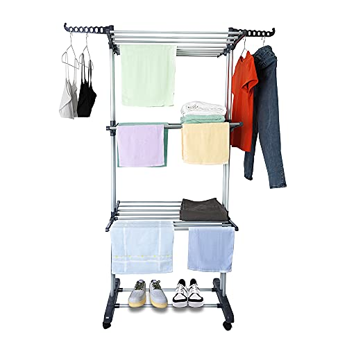TUCENOPO Clothes Drying Rack, Multifunctional...