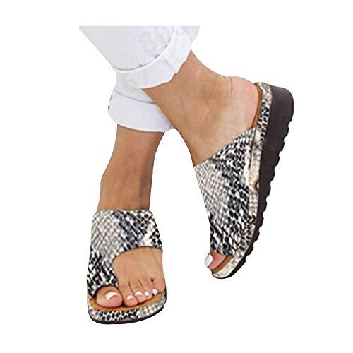 Hotkey Snakeskin Sandals Women's 2020 New Women Comfy Platform Sandal Shoes Summer Beach Travel Shoes Fashion Sandal Black