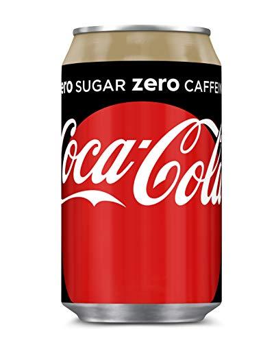 Coca Cola Zero Koffeinfrei Einweg-Dosen Zuckerfrei (24 x 0,33L) Inkl. Gratis Fivestar Kugelschreiber