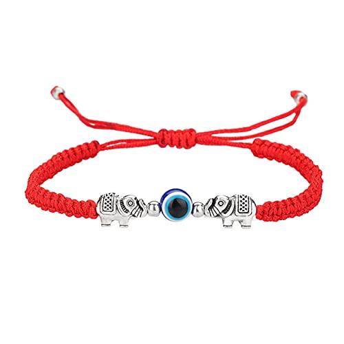 Ev il Eye String pulsera ajustable pulsera de la suerte pulsera ajustable rojo amuleto de cuerda para pareja familiar Bestfriend mujeres hombres pequeños y niñas