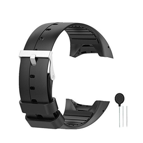 WEINISITE Silikon verstellbares Ersatzband Armband für Polar M400/M430 GPS Smart Watch (Schwarz)