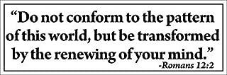 GHaynes Distributing Magnet Romans 12:2 Do Not Conform - Transform Magnetic Magnet(Bible Verse ROM 12 2) 3 x 9 inch