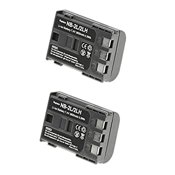 2 Pack Replacement Battery for Canon E160814 Battery - Replacement NB-2LH Battery for Canon Camera & Video Camera