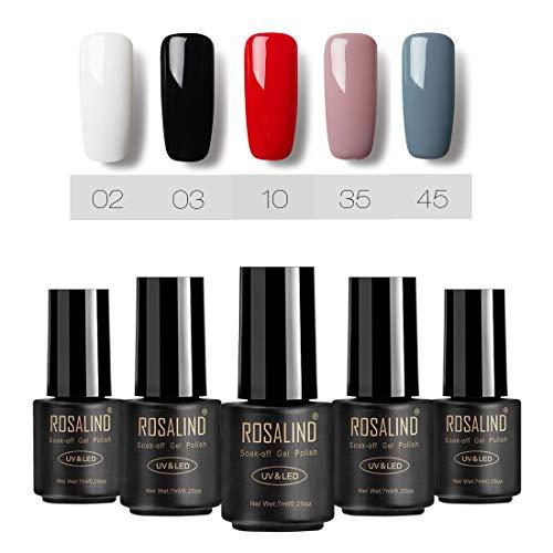 ROSALIND UV-Gel-Nagellack LED-Lampe Gel-Lack kirschrote Farbe reine Farben semi-permanente...