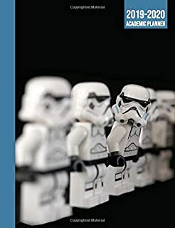 2019-2020 Academic Planner: Storm trooper star wars style  August 2019 to July 2020 Month and Week to view planner with 2 page monthly calendar for class timetable and daily tasks, notes and contacts.