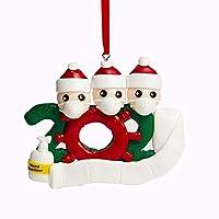 DIYの名前の挨拶クリスマスの誕生日パーティーの装飾ギフト製品パーソナライズされた家族の飾りパンデミック