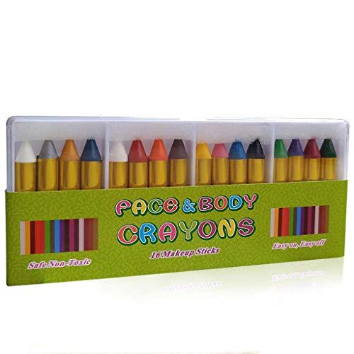 16 unids/caja pintada cara Crayons nios cara cuerpo pintura maquillaje Crayons para Halloween disfraz fiesta Cosplay etapa rendimiento pintura Props