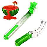 Watermelon Windmill Cutter, Melon Baller Kit, Watermelon Slicing Tool & Stainless Steel Watermelon Windmill Slicer 2 Pack - Kitchen Tools and Gadgets - Watermelon Tap - Fruit Knife