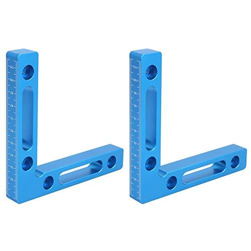 2Pcs Piazze di posizionamento, Morsetti ad angolo retto da 5 pollici a 90 gradi Morsetto angolare Strumenti per falegnameria per la lavorazione del legno