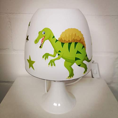 ✿ Tischlampe ✿ DINO Dinosaurier grün personalisiert Name ✿ Tischleuchte ✿ Schlummerlicht ✿ Nachttischlampe ✿ Lampe ✿