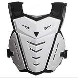 HBRT Gilet d'armure de Moto, Protège-Dos de Coffre à Moto,White