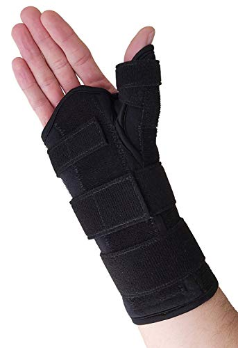 Thumb Spica Splint & Wrist Brace – Both a Wrist Splint and Thumb Splint to Support Sprains, Tendinosis, De Quervain's Tenosynovitis, Fractures or Trigger Thumb Hand Brace for Carpal Tunnel (Right S/M