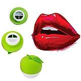 Lèvres Plumper Appareil Enhancer Lobed Lobed Lip Succion Sexy Plein Rapide Lèvres Plumper Soins Outils Dispositif Forme Pomme pour Dame Filles Femmes (Vert)