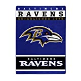NFL Baltimore Ravens '12th Man' Raschel Throw Blanket, 60' x 80'