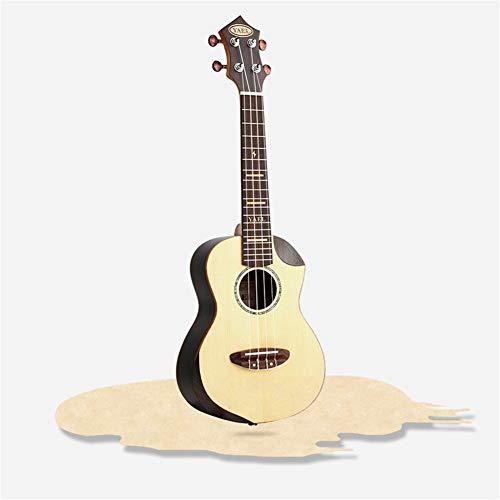 Ning Night Ukulele Kleine Gitarre Ukulele 23 Zoll Spruce Hand Veneer Ukulele Intarsien Ahorn Fichte Furnier