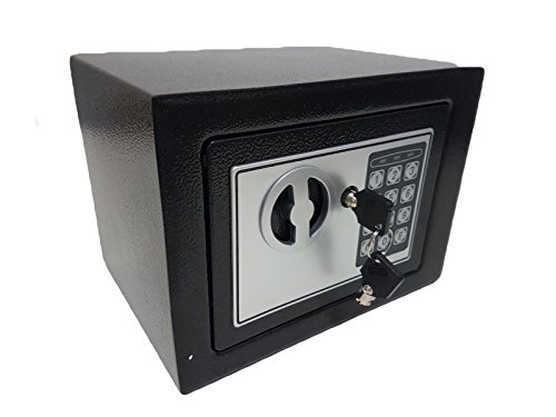 Cofre 17EDA Eletrônico Digital Teclado Senha E Chave Reserva