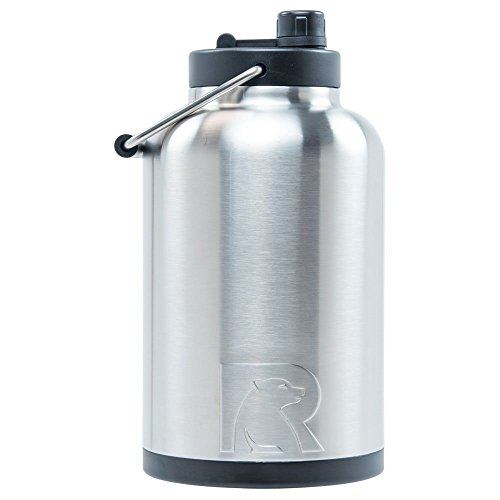 RTIC Jug, 1 gallon, Stainless, Vacuum Insulated Large Water Bottle, with Handle