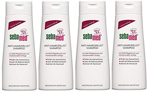 Sebamed Anti-Haarverlust Shampoo mit Coffein und Ginkgo 4x200ml
