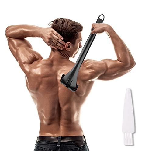 Afeitadora Espalda para Hombres, Afeitadora de Espalda Plegable, Afeitado en Seco y Húmedo Perfecto e Indoloro, Afeitado de Espalda Efectivo para Hombres