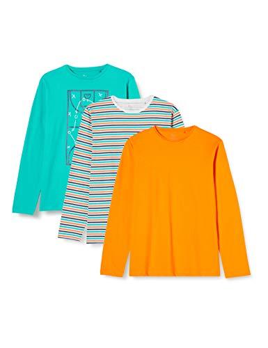 ZIPPY Pack 3 Camisetas Manga Larga SS20, Viridian Green 17/5126t, 3/4 para Niños
