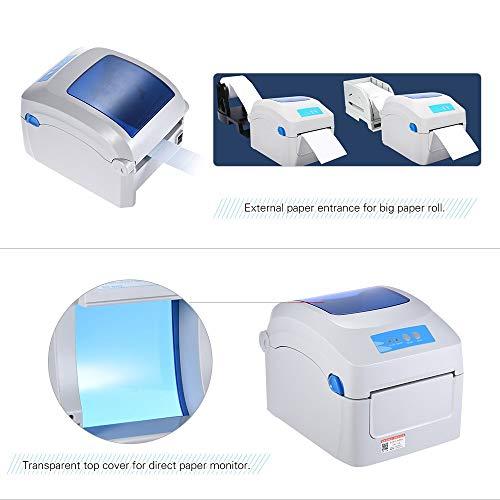 Bulk 8 Pouces Imprimante Thermique Port USB Imprimante d'étiquettes et Impression multifonctionnelle Max Pris en Charge Taille du Papier Thermique: 104 x 2286mm GP1324D