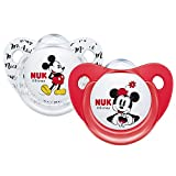 NUK NUK-FED12 Micky/Minnie Silikon Schnuller 2er-pack, transparent, 200 g
