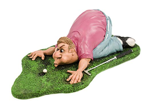 Funny Sports - Golfspieler Blow for par pustet Ball
