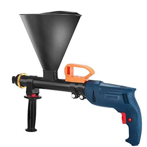 Herramienta lechada mortero eléctrica de 220 V, pistola llenado de pulverizador de cemento Mango de absorción golpes velocidad infinitamente variable Tolva de gran capacidad, para calafateo señalador