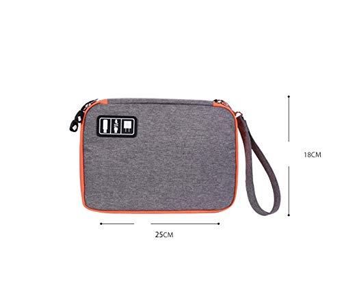 RONSHIN Universele Kabel Organizer Tas voor Reizen Huisraad Opslag Kleine Elektronica Accessoires Cases, Small orange