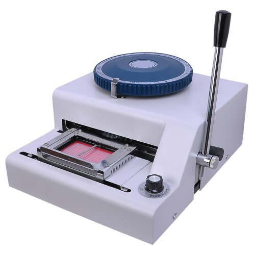 Instahibit 70 Character PVC Card Embosser Stamping Machine Credit ID VIP Magnetic Embossing Laser Engraved Dial