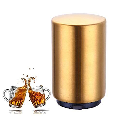 QWET Abrebotellas De Cerveza AutomáTico MagnéTico, Abridor De Tapa De Acero Inoxidable PortáTil, Se Puede Usar En Casa, Restaurante, Fiesta Y como Regalo,A